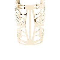 CAGED CUT-OUT CUFF BRACELET