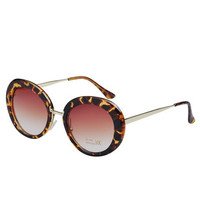 Leopard Frame Mirror Bracket Sunglasses