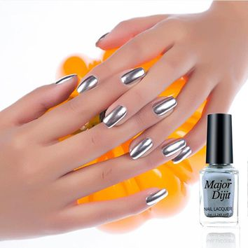 7ml/Bottle Metallic Mirror Nail Polish Sexy Color Stainless Steel Silver Mirror Silver Nail Polish Nails Art Tools