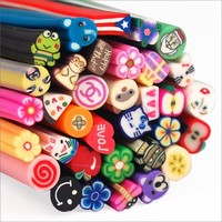 100pcs 3D Design Nail Art Fimo Canes Sticks for Manicure Decoration - Up to 5000 small pieces!