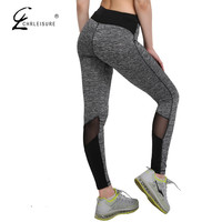 CHRLEISURE S-XL Women Adventure Time Mesh Leggings Plus Size Breathable Push Up Leggins Workout Polyester Slim Leggings Women