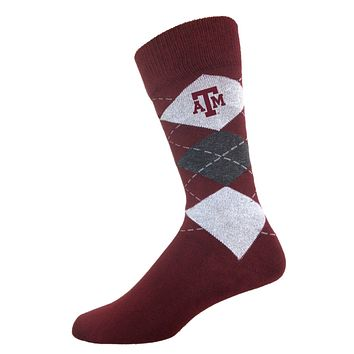 Texas A&M Men's Argyle Sock