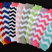 Chevron Leg Warmers for Baby Girls Toddler--One Pair