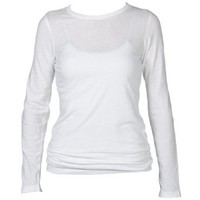 Boxercraft White Long Sleeve T-Shirt 100% Cotton Lightweight and Comfy