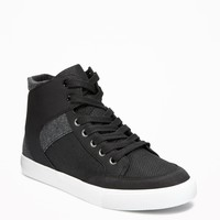 Sueded Color-Block High-Tops for Boys | Old Navy