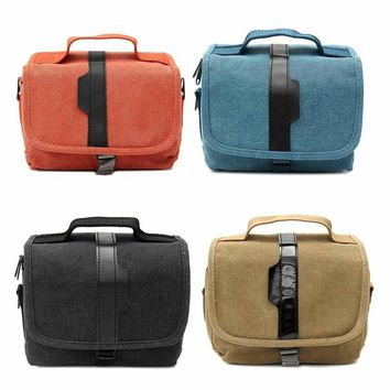2017 New Arrival Canvas Micro-DSLR Camera Single Shoulder Bag Protective Carrying Travel Handbag
