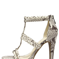 Jessica Simpson Solena Mojito Snakeskin Dress Sandals