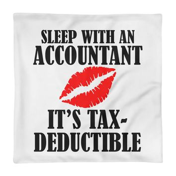 Accountant Client Funny 3D Graphic Square Pillow Case