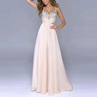 .Sequin Prom Dress