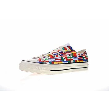 FIFA World Cup£¡Converse chuck taylor all star Classic 1970S Low ¡°World Cup Flag¡± Sneaker 163688C