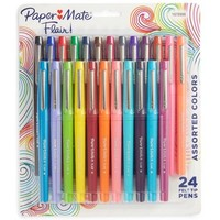 Paper Mate Felt Tip Marker Pens, Medium Tip, 24ct - Tropical & Multicolor Ink