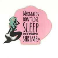 Patches - Quirky Mermaid Embroidered Large Iron-on Patch in Pink
