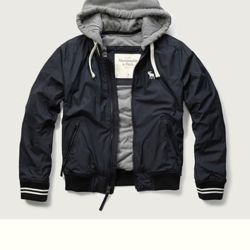 Fleece Lined Baseball Jacket