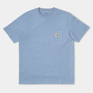 Short Sleeve Pocket Tee in Cold Blue