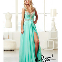 (PRE-ORDER) Mac Duggal 2014 Prom Dresses - Mint Chiffon A-Line Sweetheart Prom Gown