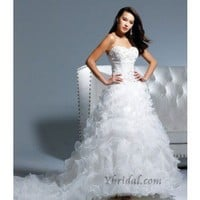 Ball Gown Sweetheart Chapel Train Tulle Wedding Dress WBG08351 - Wedding Dresses