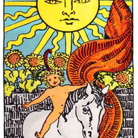 The Sun Tarot Card Poster 11x17