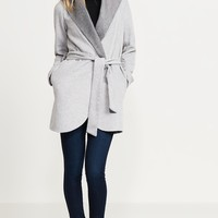 Belted Wool Coat With Hood