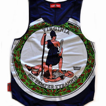 """Virginia """"Old Dominion State"""" Flag Tank Top"""