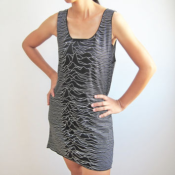 Joy Division Unknown Pleasures Tank Top Women Singlet Tshirt Size S