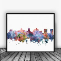 Madison Skyline Art Print Poster