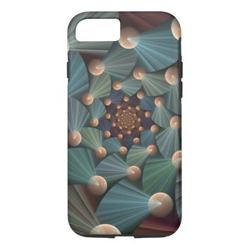 Modern Fractal Art with Depth Pattern iPhone 7 Case