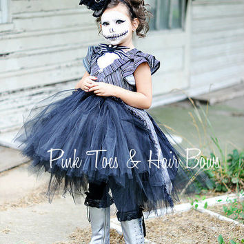 Jack Skellington Tutu Dress- jack Skellington dress- Jack Skellington Costume -Jack Skellington Tutu- Nightmare Before Christmas