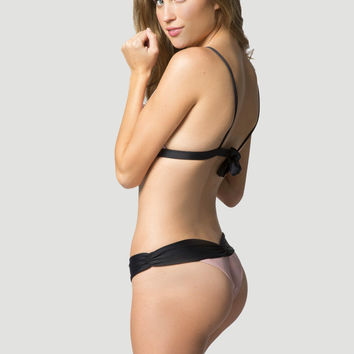 2014 Kai Lani Swimwear Boom Boom Bottom in Black Colorblock