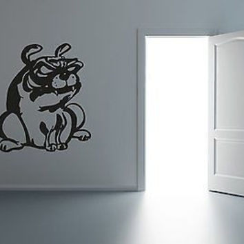 Funny Bulldog Wall Art Sticker Decal R010