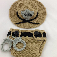 State Trooper Baby Outfit - Police Officer Baby - Deputy Sheriff - Baby Police Outfit - Park Ranger - Baby Police - Sheriff Deputy