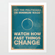 Politicians Art Print by The Quotes Project