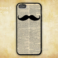 Mustache iPhone 5 case, Dictionary Page Patterns iPhone 5 Hard case, iphone 5 cover, ON SALE