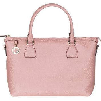 LMFIX5 Gucci Soft Pink Calf Leather GG Pendant Hobo Shoulder Bag