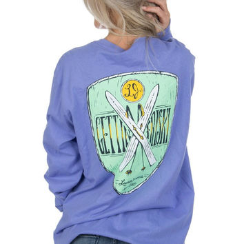 Lauren James Getting Friski Long Sleeve Tee in Periwinkle