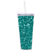 Slant Collections- 22 Oz. Hot/Cold Tumbler- Turquoise Glitter