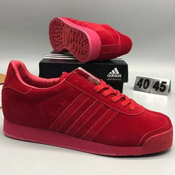 ADIDAS autumn and winter fashion pigskin fashion sports casual shoes F-CSXY red