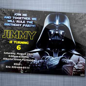Star Wars Night Sky, Birthday Party, Invitation Card Design