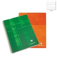 Clairefontaine Classic Wirebound Notebooks 8 1/2 in. x 11 in. ruled with margin, 3-hole punched 90 sheets, colors may vary.