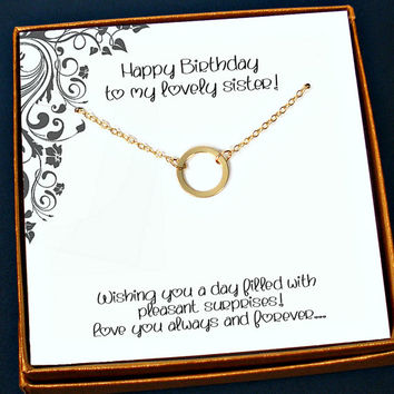 Sister Necklace Birthday Gift Jewel