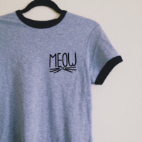 Mady Meow Ringer Tee