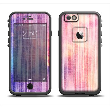 The Vibrant Fading Purple Fabric Streaks Apple iPhone 6 LifeProof Fre Case Skin Set