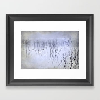 Cormorants in the fog Framed Art Print by Guido Montañés