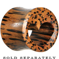 """9/16"""" Organic Coconut Wood Adoring Heart Hollow Tunnel Plug 