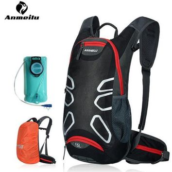 ANMEILU 15L Sports Cycling Backpack Hydration Bladder MTB Road Bike Bicycle Bags Outdoor Climbing Camping Hiking Bags Camelback