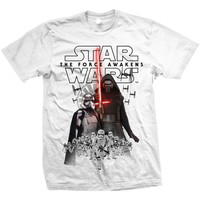 Star Wars Men's  New Villians T-shirt White Rockabilia