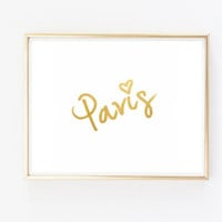 paris faux gold foil print fashion saying quote typographic print quote print tumblr room decor framed quotes funny fashion quote teen room