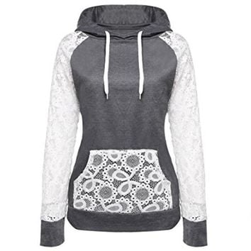 Lace Pullover Hoodie