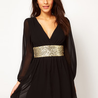 ASOS Skater Dress With Sequin Band