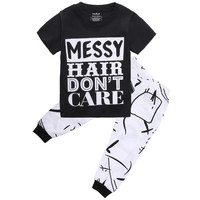 Toddler Kids Baby Outfit Fashion Casual T-shirt Tops + Pants Trousers 2PCS Set Clothes 2 3 4 5 6 7 Years Clothes Sets