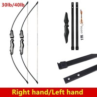 30lbs/40lbs Taken down Recurve Bow for Archery Bow Shooting Hunting Game Outdoor Sports Right hand&left hand bow can choose